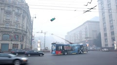 Smog from natural fires in Moscow Stock Footage