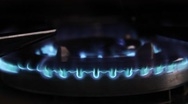 Stove Head Close-up Stock Footage