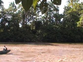 Stock Video Footage of Arajuna river, touristboat