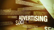 Stock Video Footage of Advertising Related Words Background Loop HD