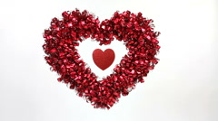 Heart Party Decoration Stock Footage
