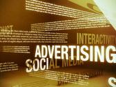 Advertising Related Words Background Loop PAL Stock Footage