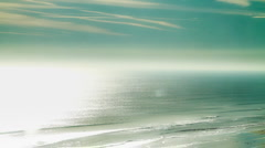 Beach Deep Blue Green Wash of Color Stock Footage