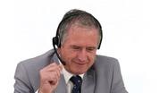 Senior businessman talking on the phone Stock Footage