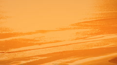 Beach Orange Wash Color Enhanced Stock Footage