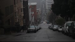 San Francisco Steep Street - stock footage