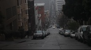 Stock Video Footage of San Francisco Steep Street