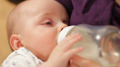 Baby feeding 4 Stock Footage