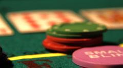Poker 21 raise Stock Footage