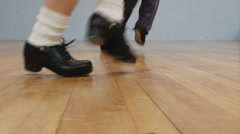 Hard Shoes Irish Dancing Stock Footage