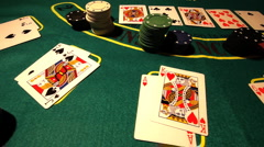 Poker 05 dolly Stock Footage