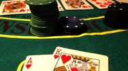 Stock Video Footage of Poker 07 royal pans