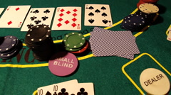 Poker 11 dolly left - stock footage