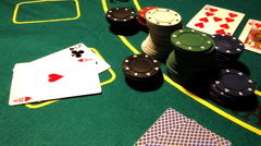 Poker 24 dolly - stock footage