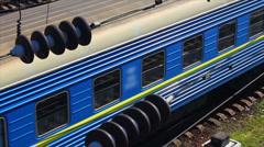 Passing passenger train (Full HD) Stock Footage