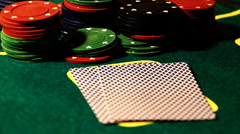 Poker 74 showdown Stock Footage