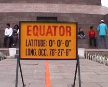 Mitad del Mundo, sign Equator Stock Footage