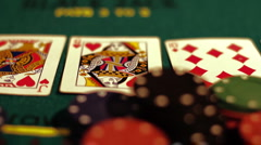Poker 32 dolly backward Stock Footage