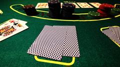 Poker 77 showdown Stock Footage