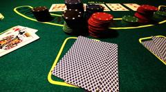 Poker 78 showdown Stock Footage