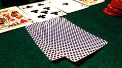 Poker 61 hesitate Stock Footage
