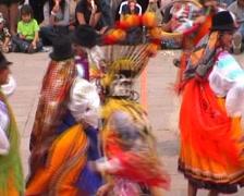 Mitad del Mundo, religious memorial party Stock Footage