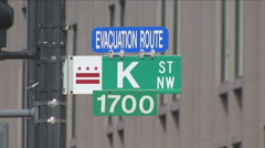 K Street in Washington, DC - stock footage