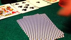 Poker 58 hesitate drop Stock Footage