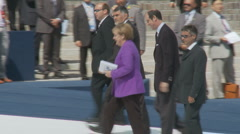 Angela Merkel, German leader, at the G8 Stock Footage