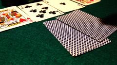 Poker 59 hesitate drop Stock Footage
