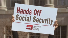 Protest in support of Social Security Stock Footage