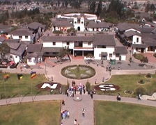 Mitad del Mundo, view from globe monument Stock Footage
