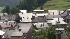 Zuoz Village Engadin Switzerland Stock Footage