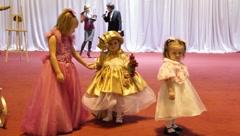 Three little princess Stock Footage