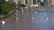 Stock Video Footage of Brisbane River and buildings