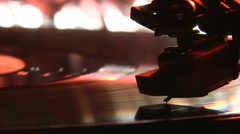Record pleyer, red with blue light Stock Footage