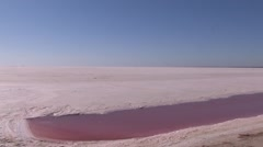 Chott el Djerid, salt pan, Tunisia Stock Footage