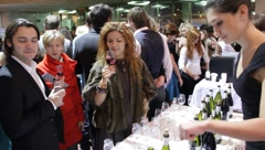 Wine sampling Stock Footage