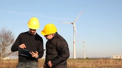 Thumbs Up for Wind Power Generation  Stock Footage