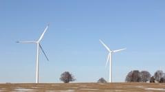 Two wind generators Stock Footage