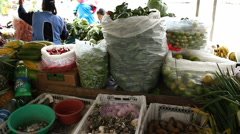 Andean market - stock footage
