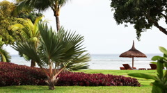 Holiday resort on Mauritius - stock footage