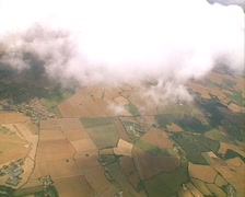 Aerial shot of British countryside Stock Footage