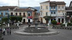 Andean town, Sangolqui, near Quito Ecuador - stock footage