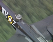 Blenheim Bomber Bolingbroke. Air To Air footage Stock Footage