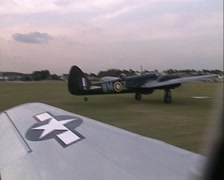 Blenheim Bomber Bolingbroke. Air To Air including take off Stock Footage