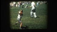 Stock Video Footage of Father and son play toss football