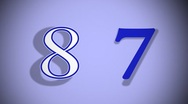 Countdown 4 Stock Footage