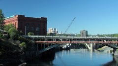 Spokane River Washington Stock Footage