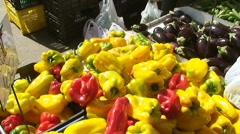 Vegetables and fruits market 2 Stock Footage